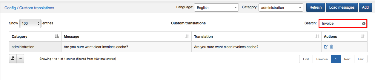 Custom translation