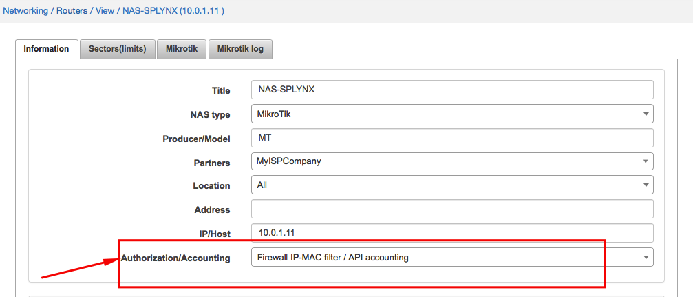 Firewall IP-MAC filter / API accounting
